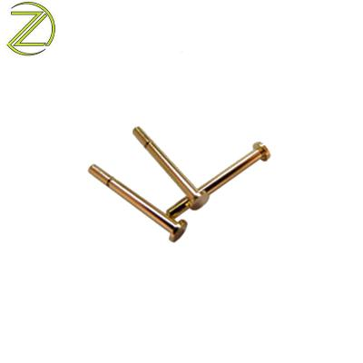 M4 Threaded Brass Dowel Pins